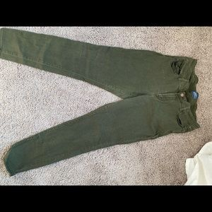 Old navy green skinny jeans